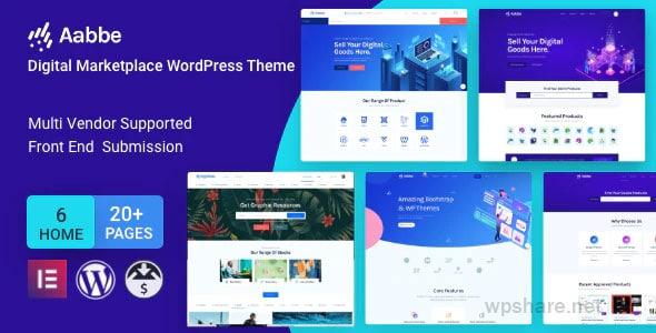 Aabbe 3.3.0 – Digital Marketplace WordPress Theme
