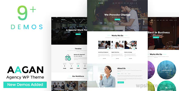 Aagan 2.7 – Agency, Startup WordPress Theme