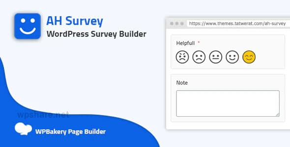 AH Survey 1.5 – Survey Builder With Multiple Questions Types