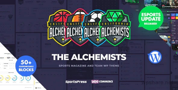 Alchemists 4.4.3 – Sports, eSports & Gaming Club and News WordPress Theme