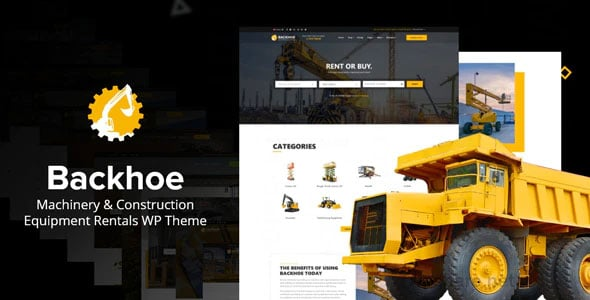 Backhoe 2.0 – Heavy Equipment Rentals WordPress Theme