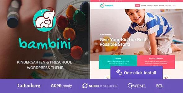 Bambini 1.0.7 – Kindergarten & Pre-School Theme