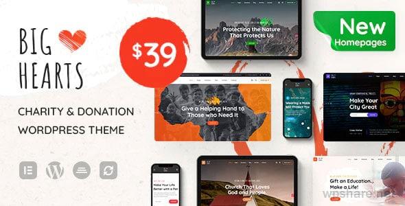 BigHearts 1.0.8 – Charity & Donation WordPress Theme