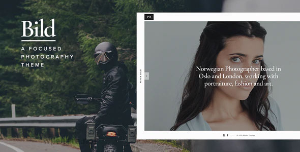 Bild 1.3.1 – A Focused WordPress Photography Theme
