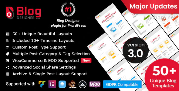 Blog Designer PRO for WordPress v3.1