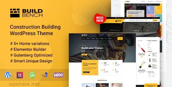 Buildbench 1.9 – Construction Building WordPress Theme