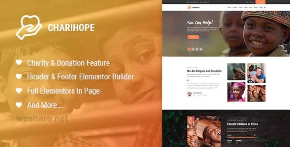 Charihope 1.0.5 – Charity and Donation WordPress Theme