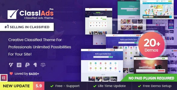 Classiads 5.9.3 – Classified Ads WordPress Theme