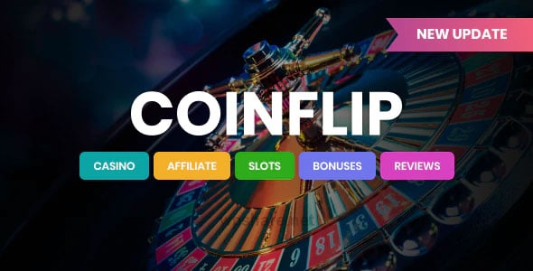 Coinflip 2.1 – Casino Affiliate & Gambling WordPress Theme