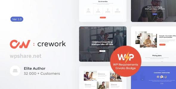 Crework 1.1.5 – Coworking and Creative Space WordPress Theme