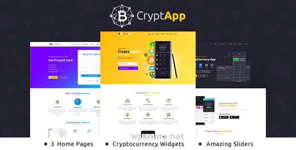 CryptApp Landing Page 2.3 – Cryptocurrency Theme