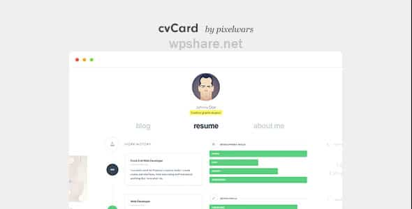 cvCard WP 1.4.5 – Responsive vCard WordPress Theme