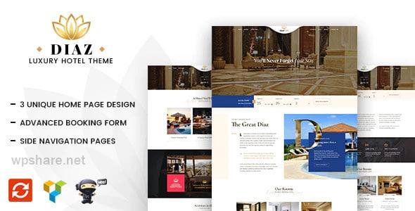 Diaz 2.6 – Hotel Booking WordPress