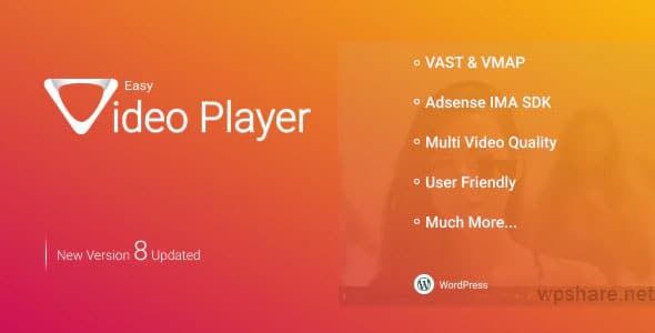 Easy Video Player WordPress Plugin v8.3