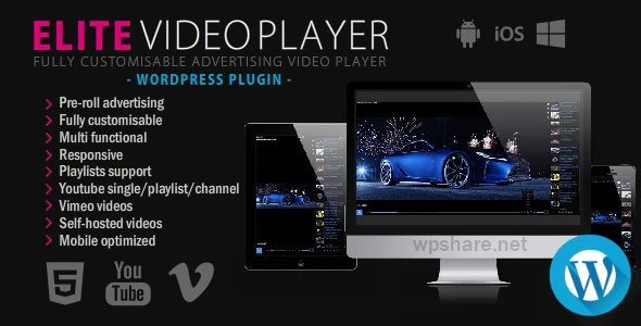 Elite Video Player 6.5.5 – WordPress plugin