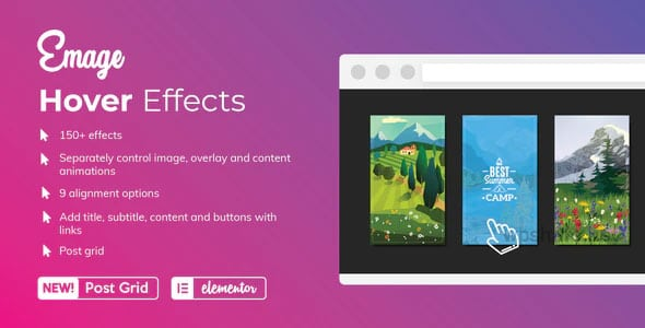 Emage 4.3.1 – Image Hover Effects for Elementor