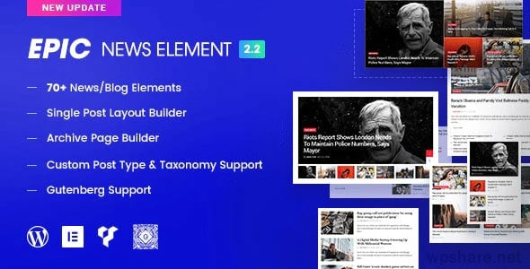 Epic News Elements 2.3.2 – Add Ons for Elementor & WPBakery Page Builder