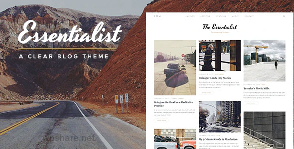 Essentialist 1.3.1 – A Narrative WordPress Blog Theme