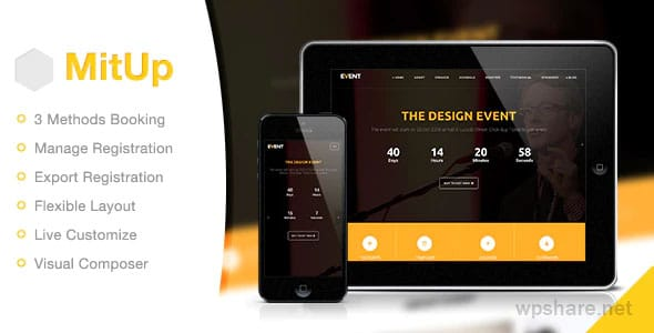 MitUp 1.2.2 – Event & Conference WordPress Theme