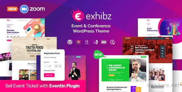 Exhibz 2.2.8 – Event Conference WordPress Theme