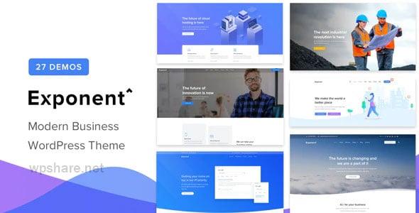 Exponent 1.2.9.2 – Modern Multi-Purpose Business WordPress theme