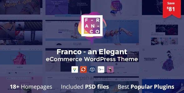 Franco 1.3.6 – Elegant WooCommerce WordPress Theme