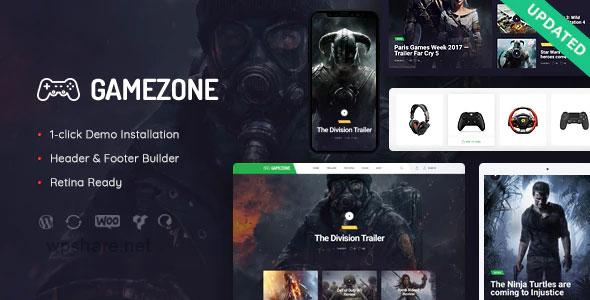 Gamezone 1.1.1 – Video Gaming Blog & Esports Store WordPress Theme