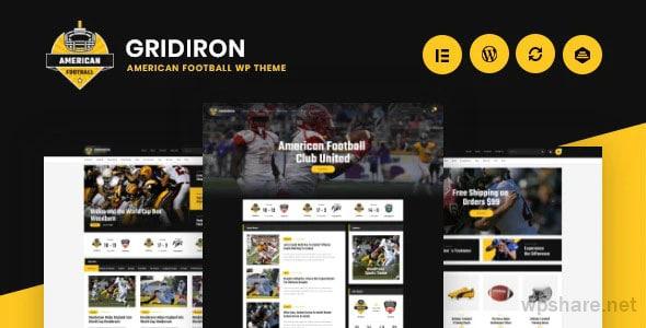 Gridiron 1.0.3 – American Football & NFL Superbowl Team WordPress Theme