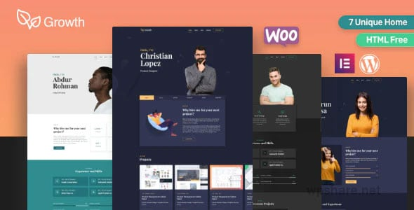 Growth 1.8.0 – Personal Portfolio Theme