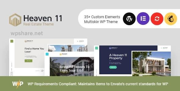 Heaven11 – Property & Apartment Real Estate WordPress Theme v1.0.3