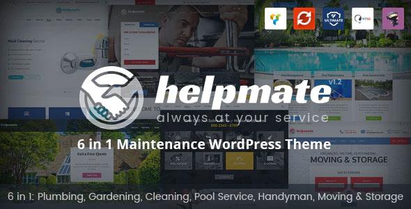 Helpmate 1.1.5 – 6 in 1 Maintenance WordPress Theme