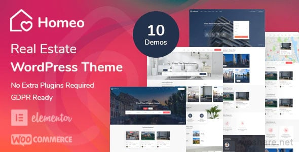 Homeo 1.2.9 – Real Estate WordPress Theme