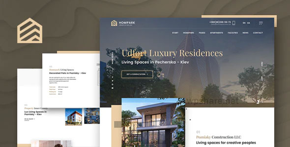 Hompark 1.1.0 – Real Estate & Luxury Homes Theme