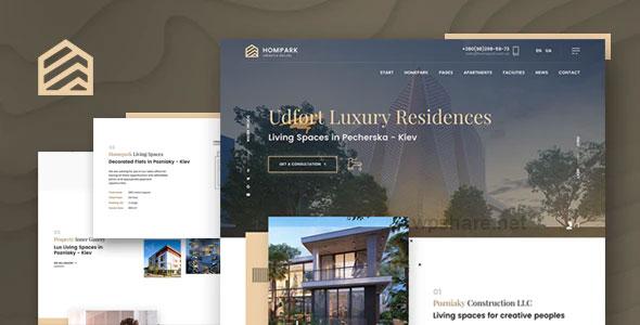 Hompark 1.1.0 – Real Estate & Luxury Homes Theme