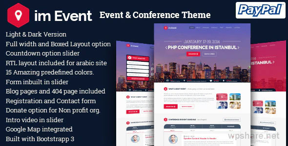 imEvent 3.2.9 – Conference Meetup WordPress Theme