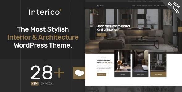 Interico 1.1.3 – Interior Design & Architecture WordPress Theme