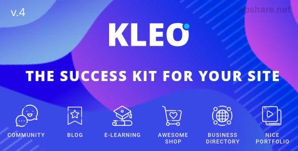 KLEO 5.0.2 – Pro Community Focused, Multi-Purpose BuddyPress Theme