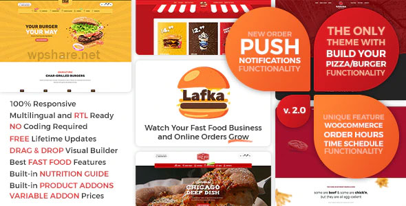 Lafka 2.5.2 – WooCommerce Theme for Burger – Pizza & Food Delivery