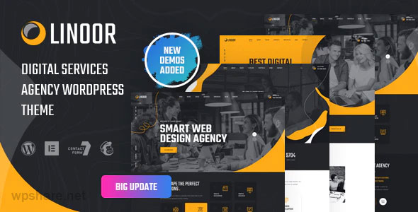 Linoor 1.3 – Digital Agency Services WordPress Theme