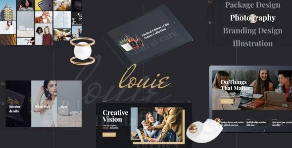 Louie 1.1.0 – Modern Portfolio Theme for Agencies