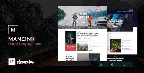 Mancink 1.0 – Fishing & Angling WordPress Theme