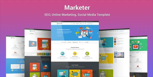 Marketer 1.2.9 – SEO, Online Marketing, Social Media WordPress Theme