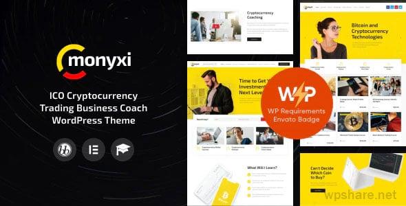 Monyxi 1.1.1 – ICO Cryptocurrency Trading Business Coach WordPress Theme