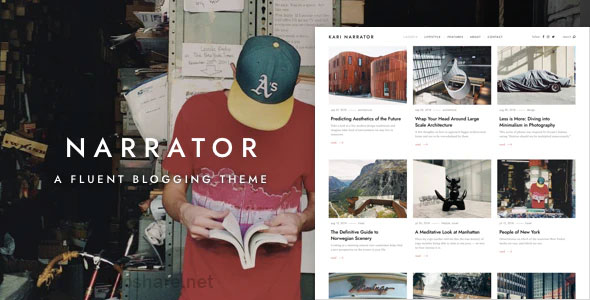 Narrator 1.3.4 – A Fluent WordPress Blogging Theme