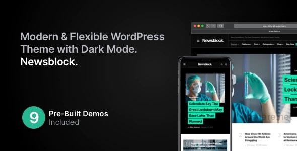 Newsblock 1.1.4 – News & Magazine WordPress Theme with Dark Mode