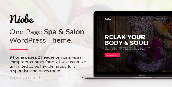 Niobe 1.1.8 – Spa & Salon WordPress Theme