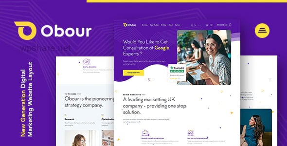 Obour 1.0.0 – Digital Marketing Agency WordPress Theme