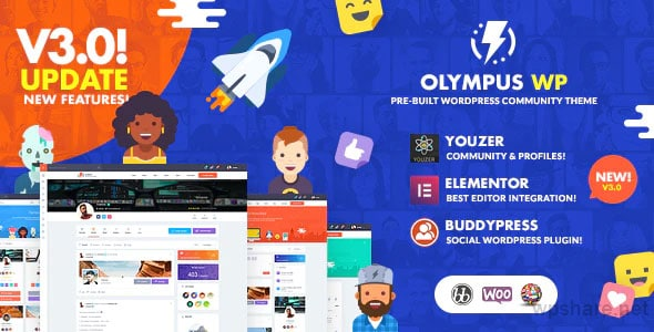 Olympus 3.30 – Powerful BuddyPress Theme for Social Networking