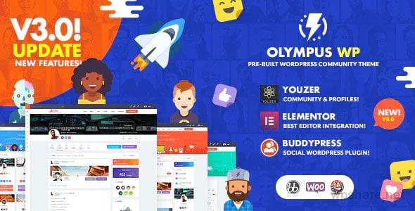 Olympus 3.9.9 – Social Networking WordPress Theme