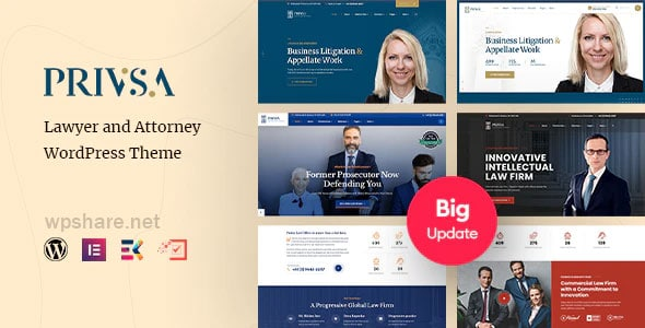 Privsa 2.1 – Attorney and Lawyer WordPress Theme
